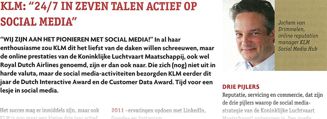 Customer Contact Magazine | KLM 24/7 in zeven talen actief op social media