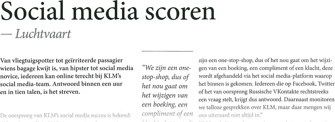 Zakenreis Magazine | Social media scoren